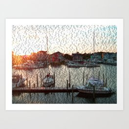Canal Drive Art Print