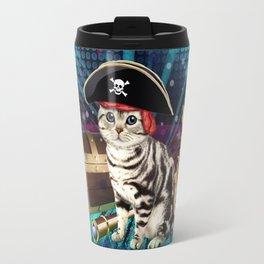 pirate cat Travel Mug