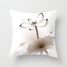 Oriental Lotus 003 Throw Pillow