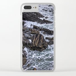 High Tide and Rock Formation Clear iPhone Case