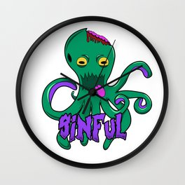 Sinful Octopus!  Wall Clock