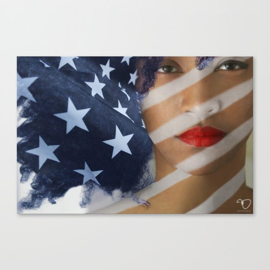 American Girl Canvas Print