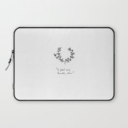 A Glad And Humble Cheer Laptop Sleeve