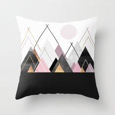 Nordic Mountains Throw Pillow