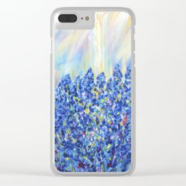 Lavender after the rain, flowers Clear iPhone Case