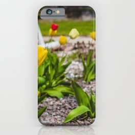 Flowers by the House 2 iPhone Case