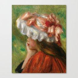 """Auguste Renoir """"Tête de jeune fille (Head of a young girl)"""" Canvas Print"""