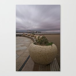 Weston-Super-Mare Seafront View Towards The Grand Pier Canvas Print