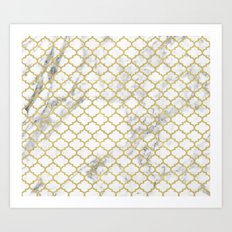 Moroccan marble Art Print