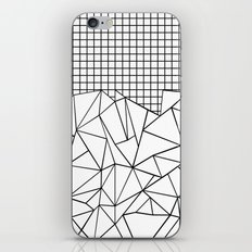 Abstract Grid #2 Black on White iPhone & iPod Skin