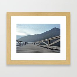 Lake Crescent at Twilight 3 Framed Art Print