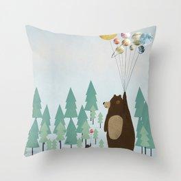 the astrology bear Throw Pillow