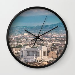 Rome Aerial View at Saint Peter Basilica Viewpoint Wall Clock