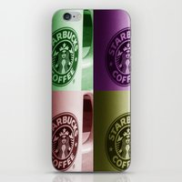 starbucks iPhone & iPod Skins featuring Starbucks  by Chris Thaxter