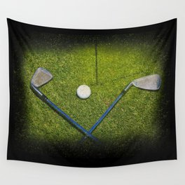 Golf Clubs Wall Tapestry