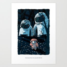Disorientation Man in the Woods of the Wool Yetis Art Print