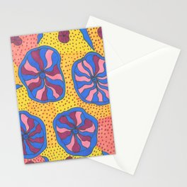 Colorful Retro Abstract Funk Stationery Cards