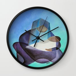 Mary and The Baby Messiah Wall Clock