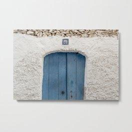 Blue Door - Cadaques, Catalunya Metal Print