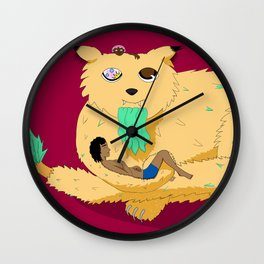 Geezer Cat Wall Clock