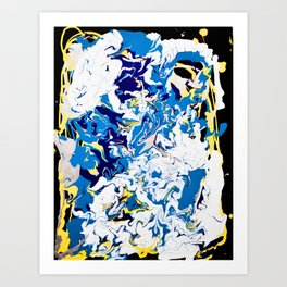 abstraction dripping water Art Print