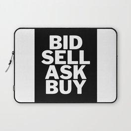 BID, SELL, ASK, BUY Laptop Sleeve