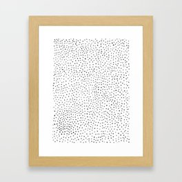 Dotted White & Black Framed Art Print