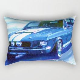 1967 Shelby GT-500 car Rectangular Pillow