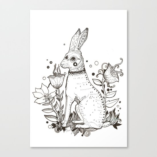 The Hare Canvas Print