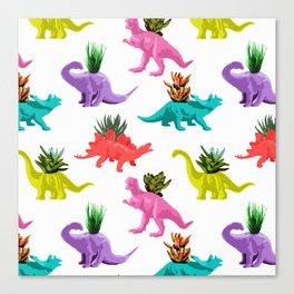 Dinosaur Planters Canvas Print