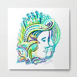 Connected Chi Metal Print