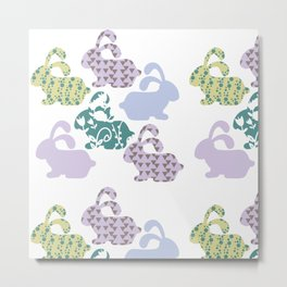 Bunnyes pattern #G11 Metal Print