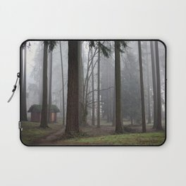 A foggy walk in the woods Laptop Sleeve