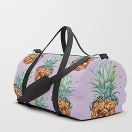 Pineapple English Bulldog Watercolor Duffle Bag