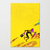 teen titans Canvas Prints featuring SINESTRO #13 TEEN TITANS GO VAR ED by NOTCHCOMICS