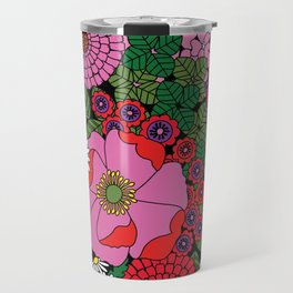 Vintage Florals Geranium Travel Mug