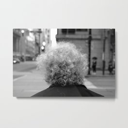 Old New Yorker in the city Metal Print