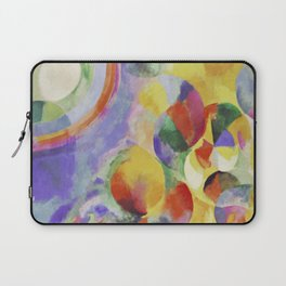 "Robert Delaunay ""Simultaneous contrasts sun and moon"" Laptop Sleeve"