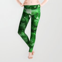 EMERALD GREEN CRYSTALS  MAY BIRTHSTONE Leggings
