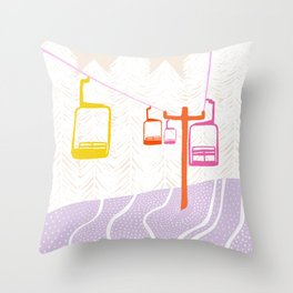 chairlift Throw Pillow