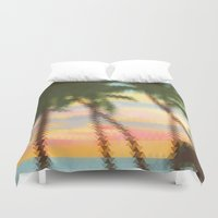 palm Duvet Covers featuring palm by OVERall