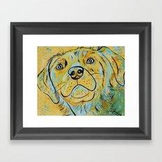 Yellow Dog Framed Art Print