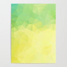 """Lemon-lime pie"" geometric design Poster"