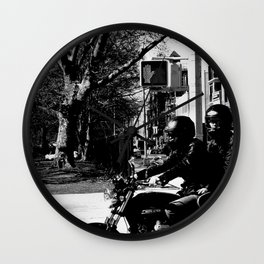 Two on a Motorcycle Wall Clock