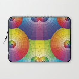 Rainbow Pretty Circles Color Wheel Awesome Thing Laptop Sleeve