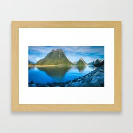 Serene Morning at Milford Sound Framed Art Print