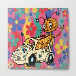 that '70s bug...a bug in a bug Metal Print