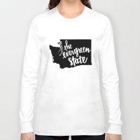 washington Long Sleeve T-shirts featuring Washington State by Caleb Swenson