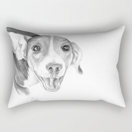 A Story To Tell :: A Beagle Puppy Rectangular Pillow