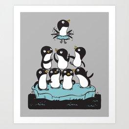 Penguin Pyramid Art Print
